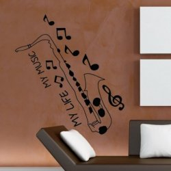 Saxofone e Notas Musicais