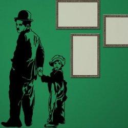 Charles Chaplin e o Seu Filho