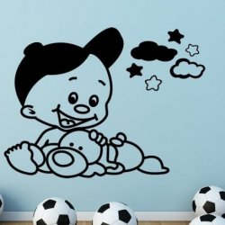 Bebê e a sua Mascote