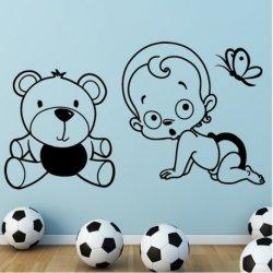 Bebê Curioso com Urso