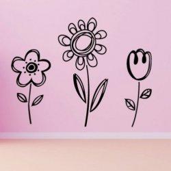 Papoila Margarida e Tulipa