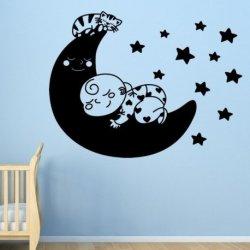 Bebê e Gato na Lua