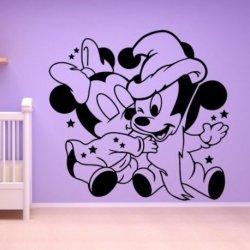 O Rato Mickey e Minnie Mouse Bebês Amorosos