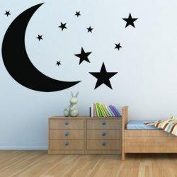 Lua e Céu Estrelado