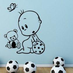 Bebê com Bola e o seu Ursinho