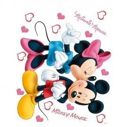 A Minnie beijando o Rato Mickey
