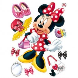A Minnie Mouse e complementos