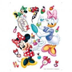 A Minnie e a Daisy arrumando-se