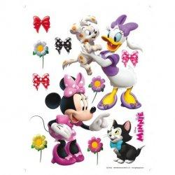 A Minnie e a Daisy com mascotes