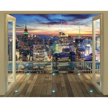 Balcão Vistas Empire State Building Iluminado