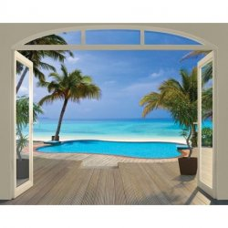 Balcão para Praia Paradisíaca