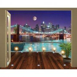 Terraço com Vistas Nova Iorque de Noite