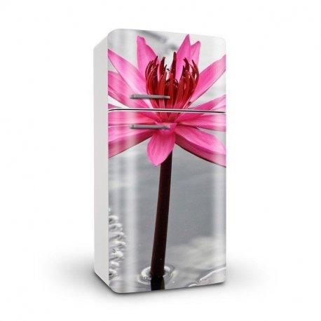 Flor Rosa com Fundo em Preto e Branco