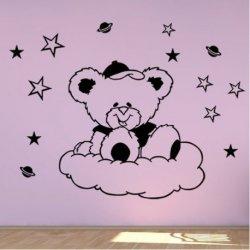 Urso Sentado nas Nuvens de Algodão