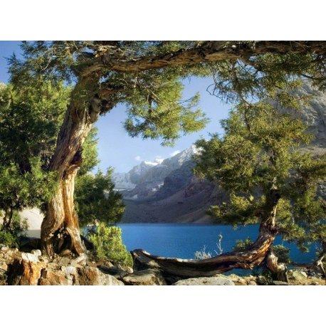 Paisagem Lago ao Pé da Montanha