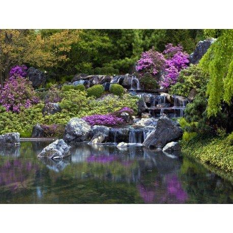 Cascata Jardim Zen Lilá