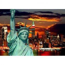 Estátua da Liberdade sobre Nova Iorque