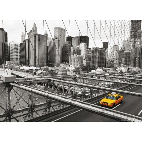 Taxi Amarelo sobre Nova Iorque