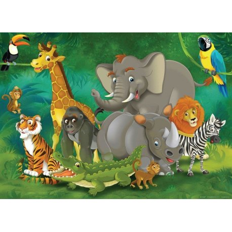 Os Animais da Selva Reunidos