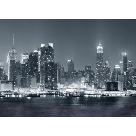 Nova Iorque Nocturna em Preto e Branco