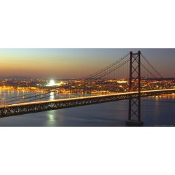 Grande Ponte Suspensa Nocturna