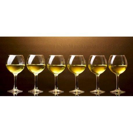 Copos de Vinho Branco In Vine Veritas