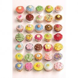 Mosaico de Cupcakes de todas as Cores