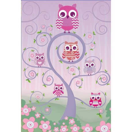 Corujas sobre a Árvore Infantil