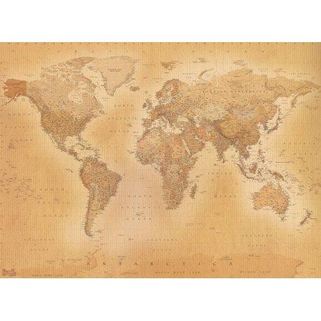 Mapa do Mundo Cores Sépia