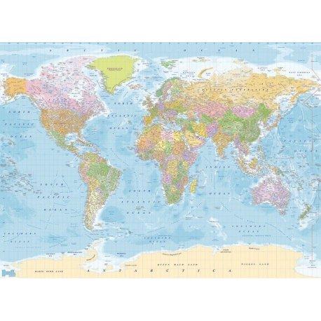 Mapa do Mundo Moderno Político com Nomes