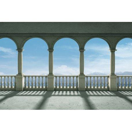 Vistas para as Montanhas desde o Balcão de Arcos