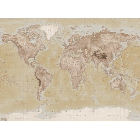 Mapa do Mundo Estilo Antigo