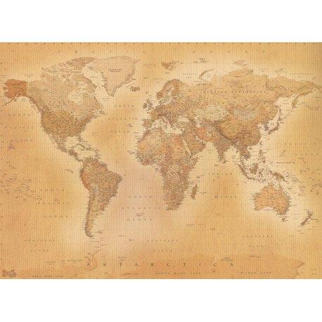 Mapa Mundo Moderno Estilo Antigo