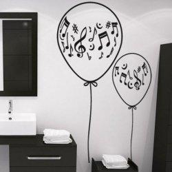 Balões con Notas Musicais