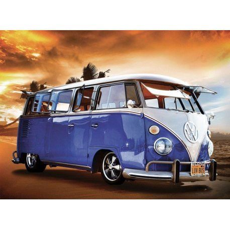 Van Volkswagen Clássica na Praia