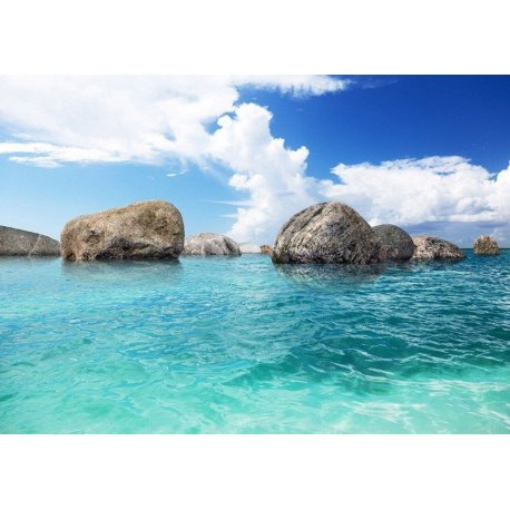 Rochas no Mar Turquesa