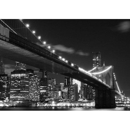 Luzes em Preto e Branco Ponte de Brooklyn