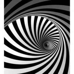 Espiral Interminável em Preto e Branco