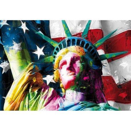Estátua da Liberdade Colorida
