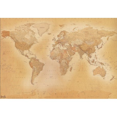 Velho Mapa do Mundo