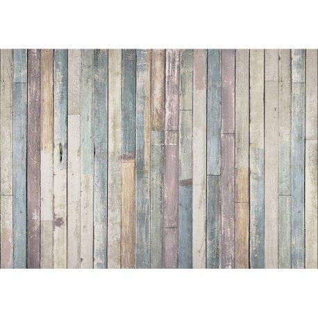 Muro de Madeira Colorido Desgastado