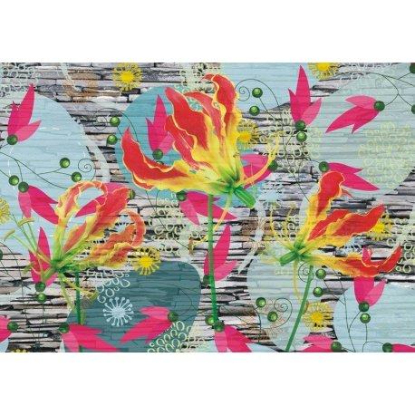Mural Flores ao Vento com Estilo