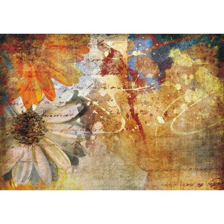 Tela de Flores Pintadas