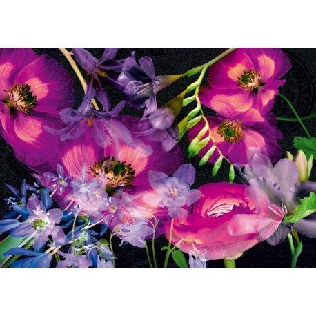 Quadro de Flores em Roxos
