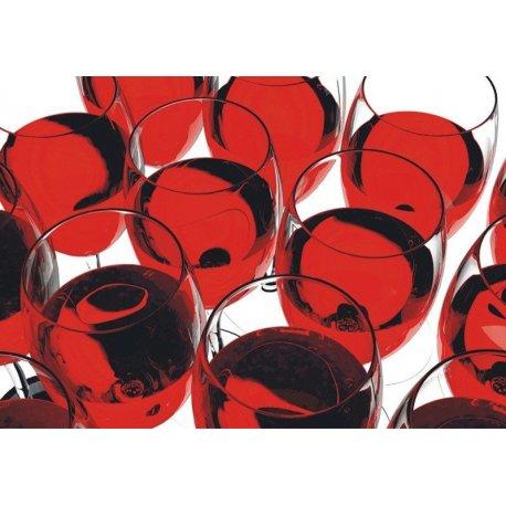 Mosaico Copos de Vinho Tinto