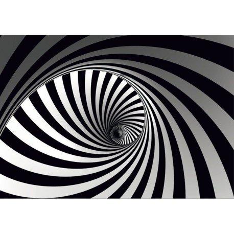 Espiral Preto e Branco ao Infinito