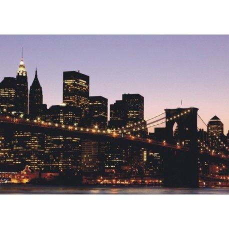 Luzes de Nova Iorque e a Ponte de Brooklyn