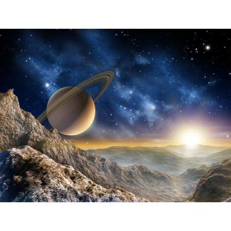Amanhecer na Lua de Saturno
