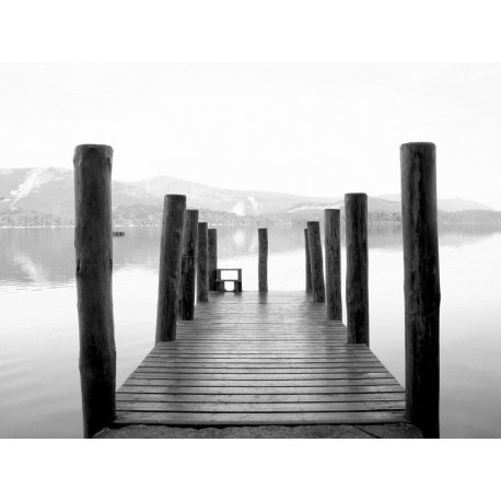 Cais do Lago em Preto e Branco