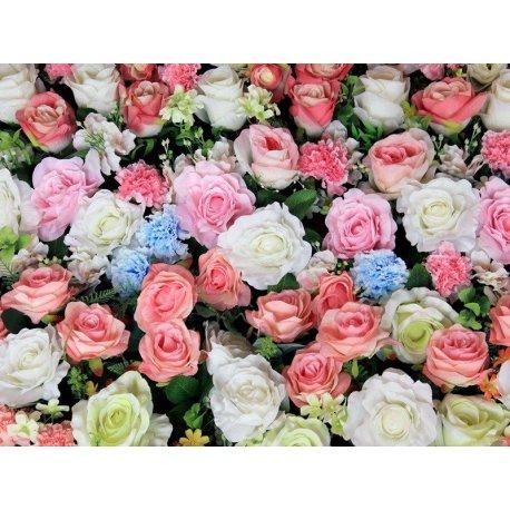 Mosaico Rosas Cores Pastéis